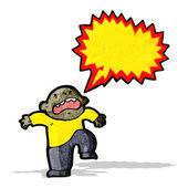 Cartoon temper tantrum — Stock Vector