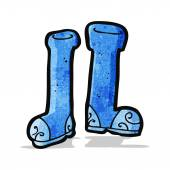 Rubber wellingtons cartoon — Stock Vector