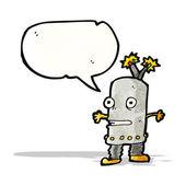 Cartoon funny little robot — Stock Vector