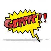 Cartoon comic book growl — Stock Vector
