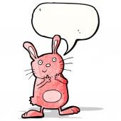 Conejo de dibujos animados de color rosa — Vector de stock