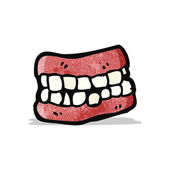 False teeth cartoon — Stock Vector