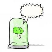 Brain in jar cartoon — Stock Vector