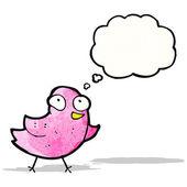 Pequeños dibujos animados ave — Vector de stock