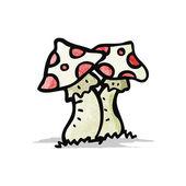 Cartoon toadstools — Stock Vector