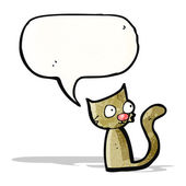 Funny cat cartoon — Stock Vector