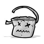 Cartoon dead bucket — Stock Vector