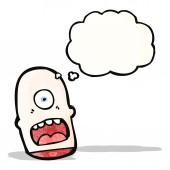 Cartoon monster head — Stock Vector