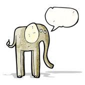 Funny cartoon elephant — Stock Vector