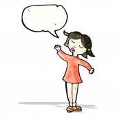 Cartoon talking girl — Stock Vector
