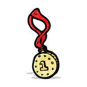 Cartoon medal — Stock Vector