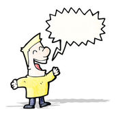 Cartoon laughing man — Stock Vector