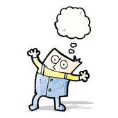 Cartoon boy thinking — Stock Vector
