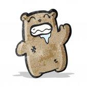 Cartoon gross waving bear — Stock Vector