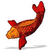 Cartoon japanese fish tattoo — Stock Vector