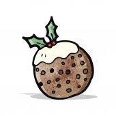 Christmas pudding — Stock Vector