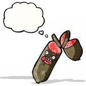 Sausage cartoon  — Stock Vector