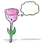 Tulipán květ kreslený — Stock vektor