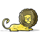 Cartoon roaring lion — Stock Vector