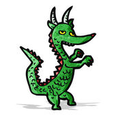 Cartoon-drache — Stockvektor