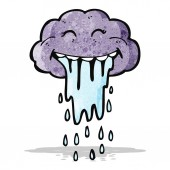 Cartoon rain cloud — Stock Vector