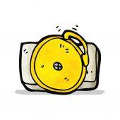 Cartoon ringing school bell — Stock Vector