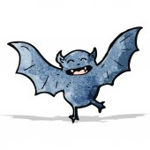 Cartoon halloween bat — Stock Vector
