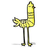 Cartoon funny long legged bird — Stock Vector