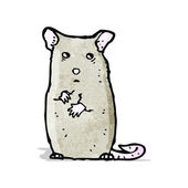 Cartoon nervous mouse — Stock Vector