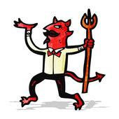 Diabo dos desenhos animados com tridente — Vetorial Stock