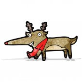 Cartoon rudolf red nosed reindeer — Wektor stockowy