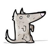 Cartoon little wolf — Stock Vector