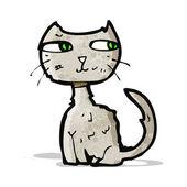 Scruffy cat cartoon — Stock Vector