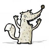 Funny cartoon wolf — Stock Vector