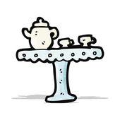 Cartoon cup and saucer — Stock Vector