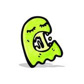 Cartoon gree ghost — Stock Vector