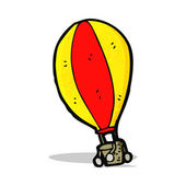 Cartoon hot air balloon — Stockvektor