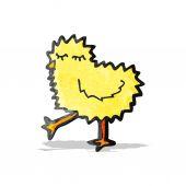卡通毛茸茸的小鸡 — 图库矢量图片