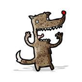 мультипликационный волк — Cтоковый вектор