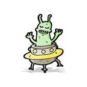Cartoon alien — Stock Vector