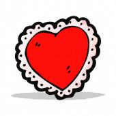 Cartoon heart symbol — Stock Vector