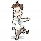 Cartoon smarmy salesman — Stock Vector