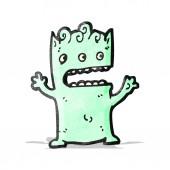 Cartoon lilla alien — Stockvektor