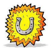 Cartoon lucky horseshoe — Stock Vector