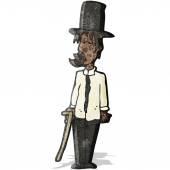 Cartoon untidy gentleman — Stock Vector