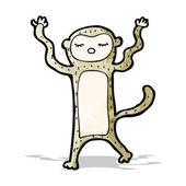 Funny cartoon monkey — Stock Vector
