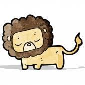 Cartoon cute lion — Stock Vector