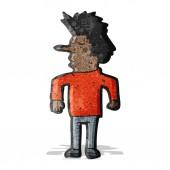 Cartoon man shrugging shoulders — Stock Vector