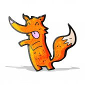 Desenhos animados Fox — Vetor de Stock