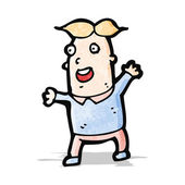 Cartoon excited man — Stock Vector